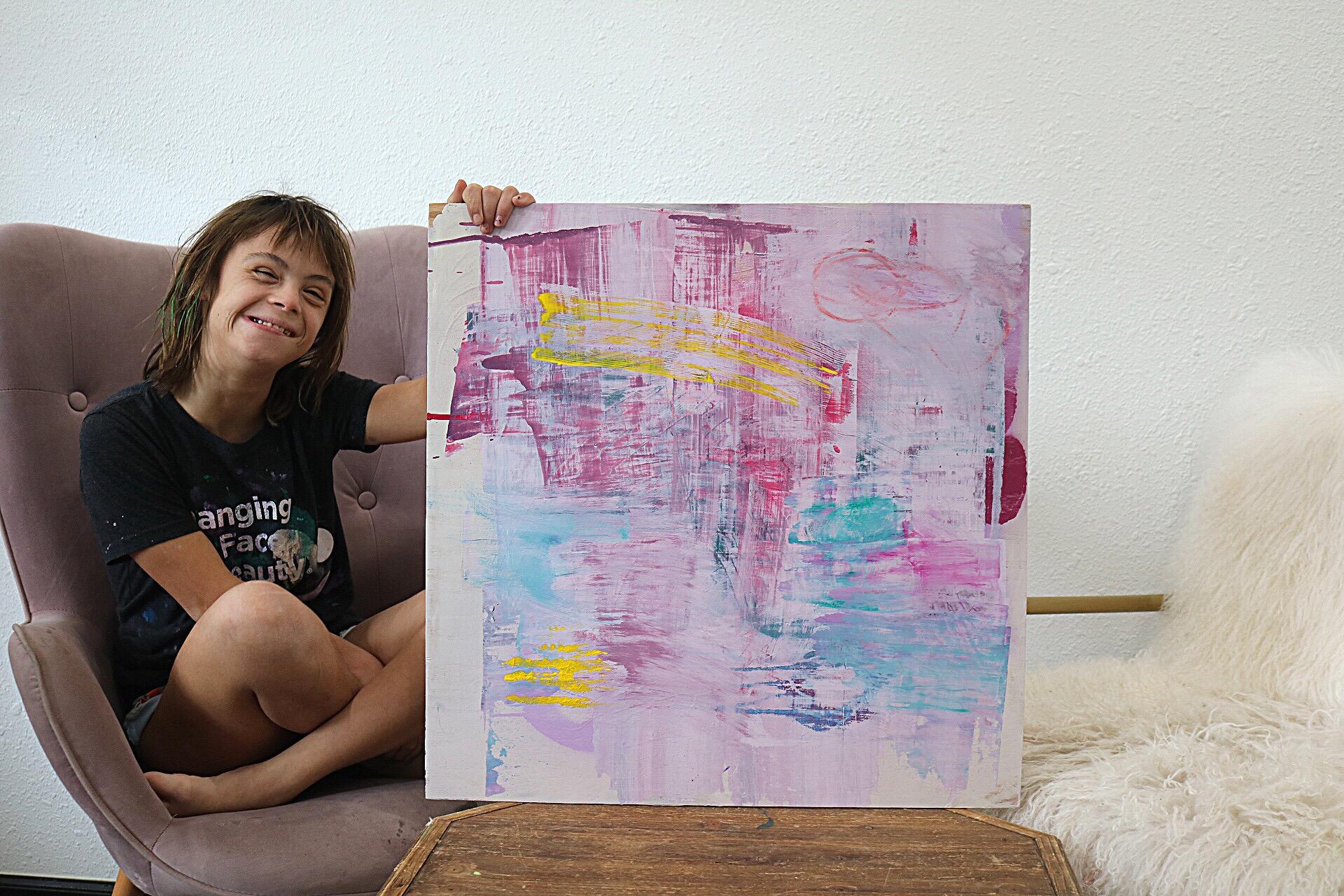 "Sevy Marie Art painting named ""Hidden Rainbows"""